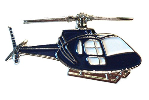 Eurocopter AS350 Squirrel Helicopter Aircraft Metal Enamel Chopper Badge