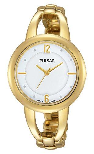 Pulsar Reloj Mujer de Analogico con Correa en Chapado en Acero Inoxidable PH8206X1