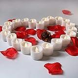 WRMING® 24 LED Flammenlose Kerzen mit Fernbedienung,Batteriebetriebene Kerze,LED Kerze für Weihnachtsdeko,Hochzeit,Geburtstags,Party,White24PCS