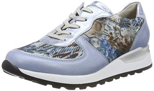 Waldläufer Damen Hiroko-Soft Sneaker, Mehrfarbig (Memphis Foil Animalstr Sky Notte 267), 38 EU
