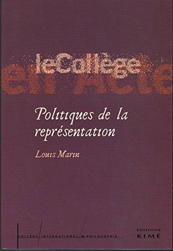Politiques De La Representation Etudes 3 College
