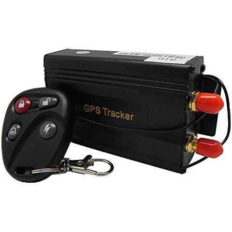 XGPS portatile Mini GPS Tracker tk109b impermeabile gps GSM con geo-fence/Due Modo Calling per SOS/veicolo/Sport all' aperto/Adulti, bambini e animali domestici + App gratuita TKSTAR software