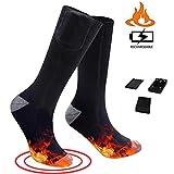 Koowaa Wiederaufladbare elektrisch beheizbare Socken Batteriebetriebene beheizbare Socken Thermosocken für Männer und Frauen Schwarz