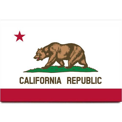 California Flagge Kühlschrank Magnet Los Angeles San Francisco Travel Souvenir