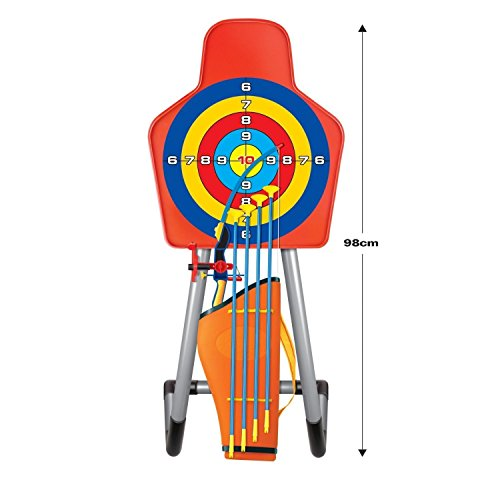 Image of Kids Toy Bow & Arrow & Holder Archery Set with Target Outdoor Garden Fun Game