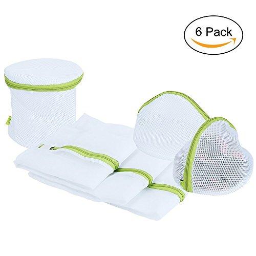 Cozyswan Wäschenetz 6 Stück Wäschesack Set mit Reißverschluss Wäschetasche Set Wäschebeutel Wäschebeutel für waschmaschine  für Dessous, Socken, Strumpfhosen, Strümpfe usw (Dessous-lösungen)