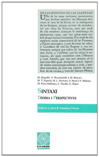 Sintaxi, teoria i perspectives (Fil d'Ariadna, Band 15)