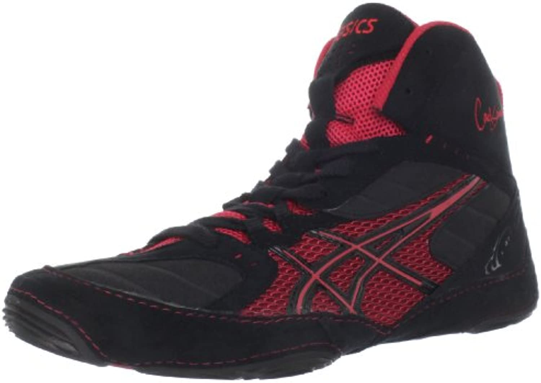 Zapato de lucha Cael V5.0 para hombre, Negro / Rojo-7 D - Mediano