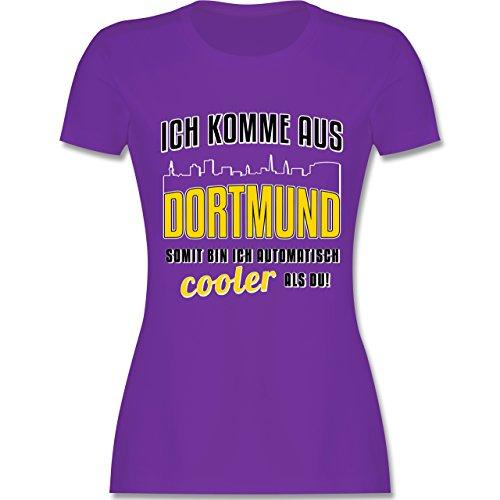 Städte - Ich komme aus Dortmund - tailliertes Premium T-Shirt mit Rundhalsausschnitt für Damen Lila
