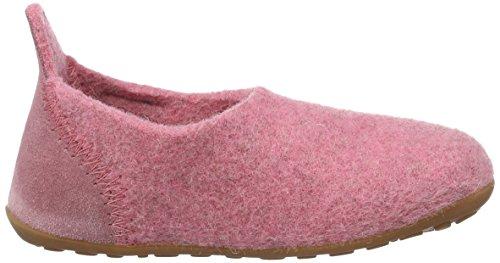 Bisgaard Unisex-Kinder Hausschuhe-Wool Basic Slipper, Pink (91 Rosa), 28 EU -