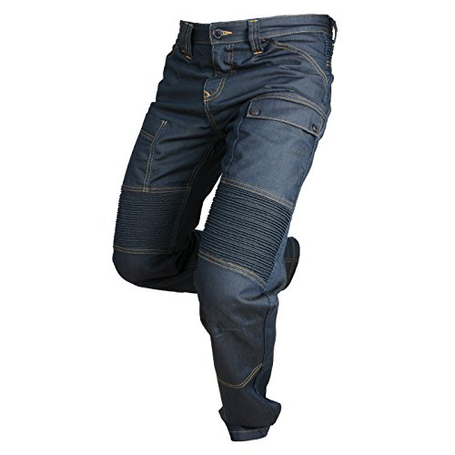 Overlap Jeans de Moto Road, Queroseno Azul Oscuro, 36