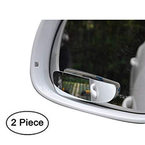 DaoRier KFZ Weitwinkel-Spiegel aus HD-Glas Auto Totwinkel-Spiegel verstellbar Rahmenloses Blind Spot Spiegel Rückspiegel,2 Stück