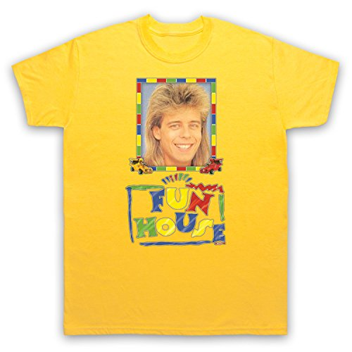 Inspired by Fun House Pat Sharp Unofficial Mens T-Shirt, Yellow - choice of colours