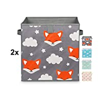Just For You Set of 2 Toy Boxes Double Pack 33 x 33 x 33 cm for Children