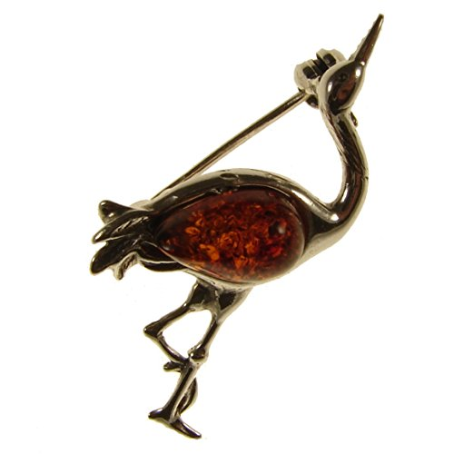 baltic-amber-and-sterling-silver-925-cognac-herron-brooch-pin-jewellery-jewelry
