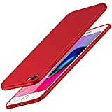 RANVOO Kompatibel mit iPhone 8 iPhone 7 Hülle, Dünn Schlank Matt Leicht Ultra Slim Fit Hart PC Anti-Kratzer Anti-Fingerabdruck Schutzhülle Case Schale Cover Handyhülle, Rot