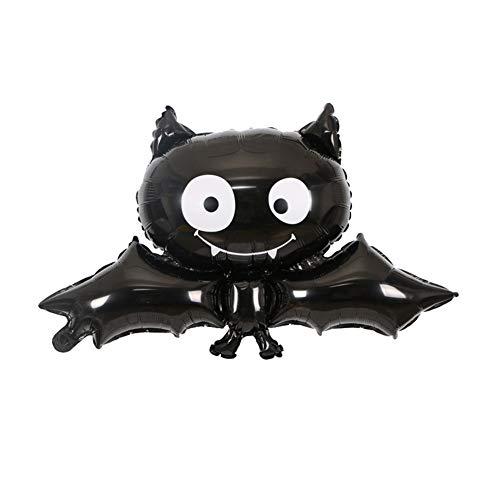 VIMOER 10 PCS Halloween Aluminiumfolie Dekorative Ballon, Halloween Süßes oder Saures Scary Party Dekorationen, Multi-Stile