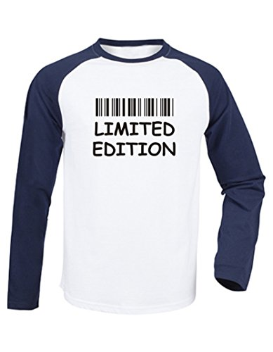 Kinder Baseball T-Shirt langarm (Farbe weiss/navy) (Größe 134/146) Limited Edition -