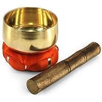 SIGRIS Tibetanische Klangschale mit rotem Kissen, 10 cm preisvergleich bei billige-tabletten.eu