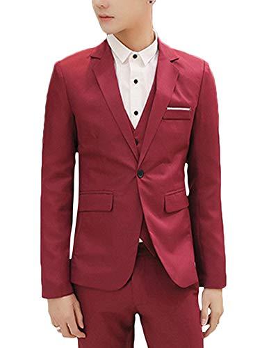 Vestito di affari da uomo blazer elegante slim fit giacca bodeaux m