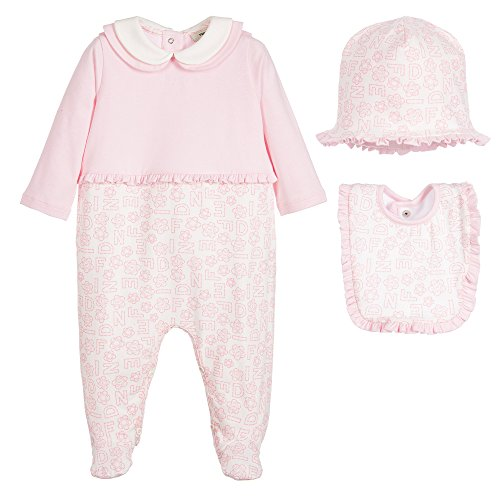 fendi-baby-madchen-0-24-monate-strampler-weiss-weiss-rosa-1-monate