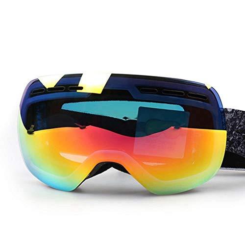 WDXGZY Schutzspiegel Professioneller doppelschichtiger Anti-Fog Spiegel Ski-Spiegel Super Big Ball Skibrille Myopia Herren Damen Polarizer a