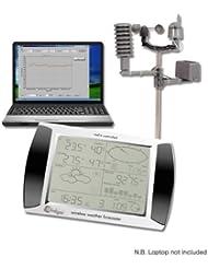 USB Wetterstation, drahtlos, LCD Touchscreen
