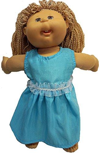 Doll Clothes Superstore Vestido Azul Brillante para muñecas de Parche de repollo