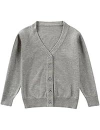 QUICKLYLY Cárdigan Suéter de punto para bebés niña niño Chaquetas y abrigos  ... 836d51ef6ae9