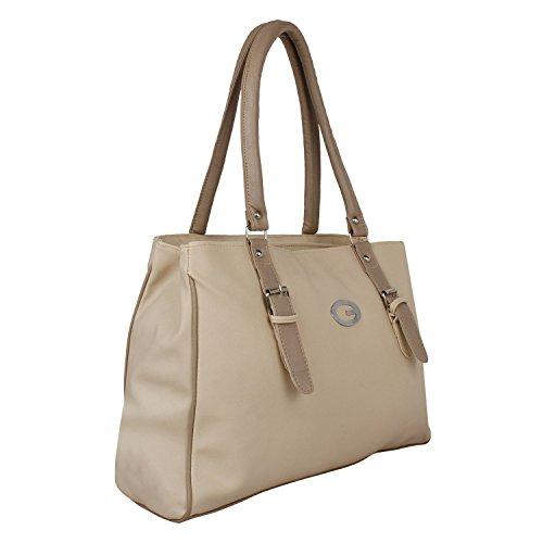 Glory Fashion Women\'s Stylish Handbag Beige BB-001-B00180