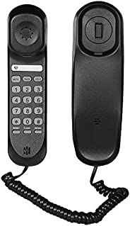 Festnight Mini Desktop Corded Landline Phone Fixed Telephone Wall Mountable Supports Mute/Pause/Hold/Reset/Fla