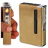 #8: DOCOSS Electric Cigarette Lighters with 6 pc Cigarette Holder Case Box Portable Flameless Windproof Lighter Cigarette Stylish for Men Women
