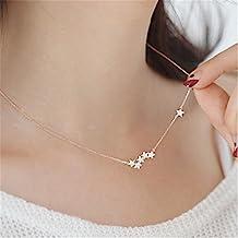 S925 semplice gioielli in argento collana di diamanti signore della moda stella , rose gold