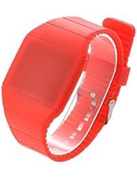 Caramelo Color resistente al agua pantalla táctil colorida sublunar calendario LED rojo Digital esquijamas globalpowder regalo Unisex deportes Muñequera reloj