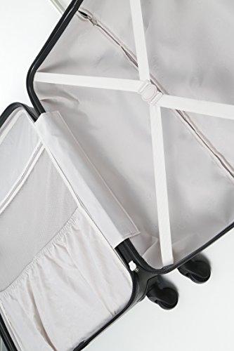 Aerolite Große Leichtgewicht ABS Hartschale 4 Rollen Trolley Koffer Reisekoffer Hartschalenkoffer Rollkoffer Gepäck , 79cm , Kohlegrau - 3