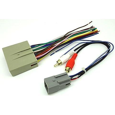 conpus Ford coche reproductor de CD estéreo Cableado Arnés alambre Aftermarket Radio instalar Plug 2008–2010Ford Escape sk5521–11ad285