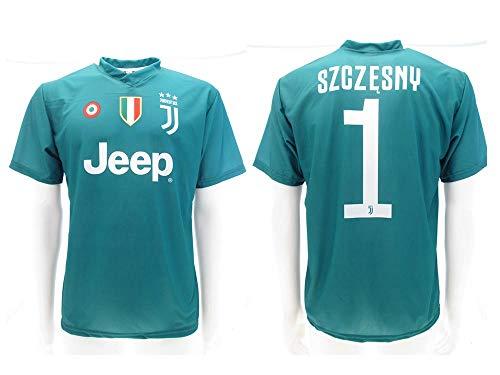 Maglia Juventus Szczesny 2019 Ufficiale stagione 2018/2019 Replica Autorizzata Portiere Juve verde (10 anni)