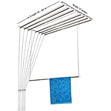 RAINBOW DRYWELL 8 Pipes Luxury Stainless Steel Ceiling Cloth Dryer (8 Feet, White and Silver)
