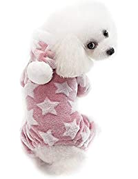 BulzEU - – Pijama para Perro con diseño de Estrella, con Capucha, Coral,