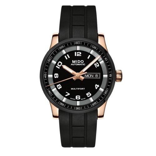 Mido Herren-Armbanduhr XL Multifort Analog Automatik Kautschuk M0054303705780
