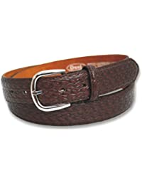 Mens 30mm Basket Weave Pattern Bonded Leather Belt by Ossi