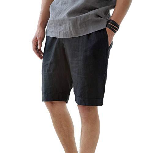 Aiserkly Herren Sport Joggen und Training Shorts Fitness Kurze Hose Jogging Hose Bermuda Reißverschlusstasch Freizeithose Stoffhose - Classic Polo Chino Hose