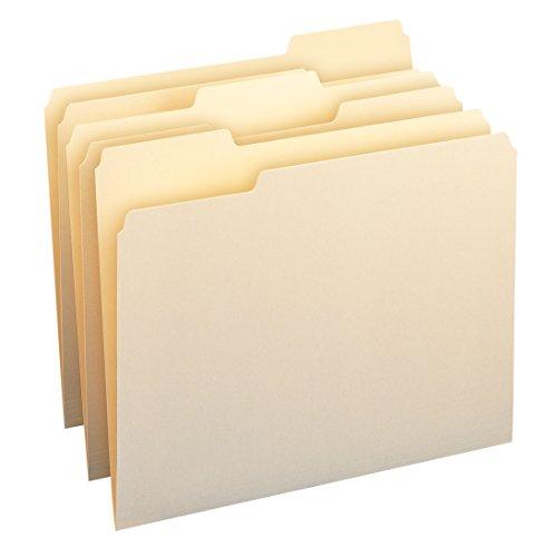 SMEAD Datei Ordner, 1/3-cut Tab, sortiert Größe Position, Buchstaben, Manila, 24pro Pack - Datei-ordner Sortiert