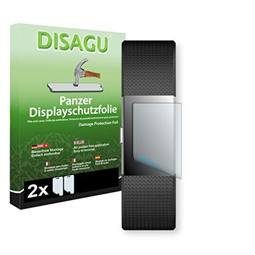 Disagu Fitbit Charge 2 Displayschutzfolie - 2 x Panzerfolie für Fitbit Charge 2 Bruchschutzfolie (verkleinerte Folie)