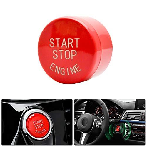 MASO Bouton de démarrage pour Voiture BMW 1/2/3/5/7 X1/3/4/5/6 (Rouge)