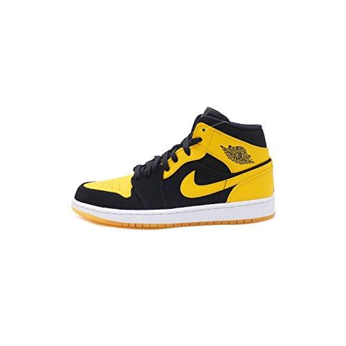 Nike Herren Air Jordan 1 Mid Basketballschuhe Schwarz