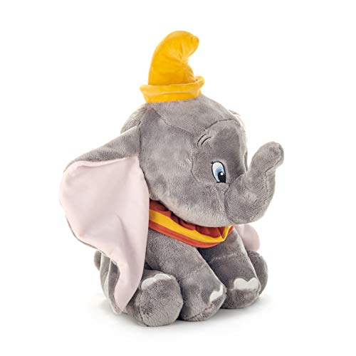 Disney 37278 Dumbo - Peluche de Elefante, 46 cm, Color Gris