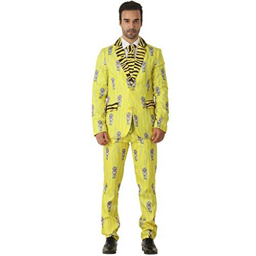 EraSpooky Männer Blazer Tiger Anzug Party (Lustige Doof Kostüm)