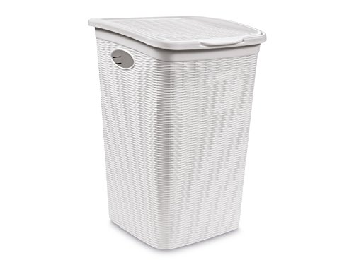 Stefanplast elegance porta biancheria, bianco, 28.5 x 39 x 54 cm,