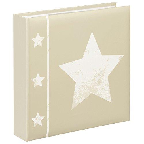 Preisvergleich Produktbild Hama Einsteck-Fotoalbum Skies (Memo-Album mit 100 Seiten, zum Einstecken von 200 Fotos im Format 10x15, Stern Motiv, 22,5x22, Einsteckalbum Fotobuch) beige